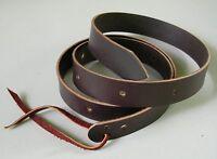 NEW 6-foot Amish Made Latigo, Genuine Leather Cinch, Western Strap, BROWN
