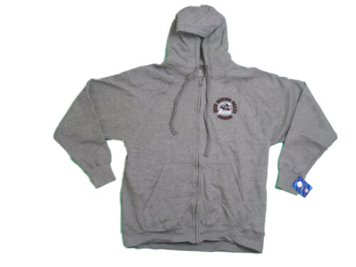 NEW MEXICO STATE AGGIES ADULT GREY EMBROIDERED FULL ZIP HOODED SWEATSHIRT NWT