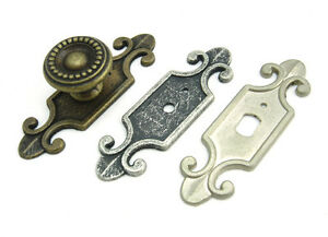 image is loading decorative back plate for cabinet knobs cupboard handle - Decorative Drawer Pulls
