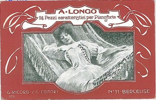 VINTAGE POSTCARD ADVERTISING ITALY MUSIC