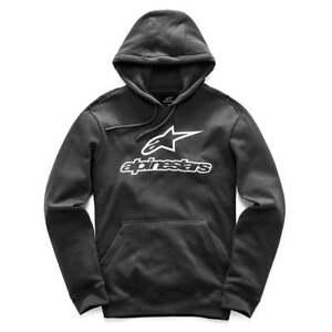 Felpa Mx Adults uomo Motocross cappuccio Nero da sempre Logo motociclista Alpinestars con da XZrXq
