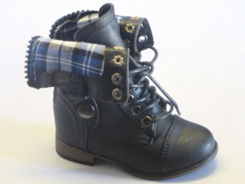 Girl Military Boots Lace legend8ka TODDLER Tan Black Up Boots Ankle Boots