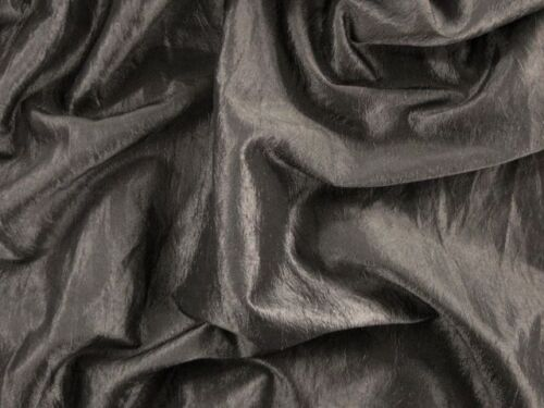 EUR 4,97//m kleidertaft Gecrasht noble Tissu Festive au mètre Stone