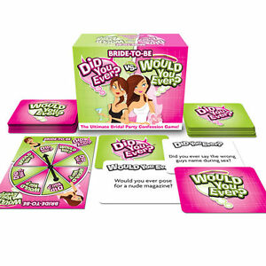 Bride to Be 'Did You Ever vs Would You Ever' - Hen Party Ladies Board Card Games