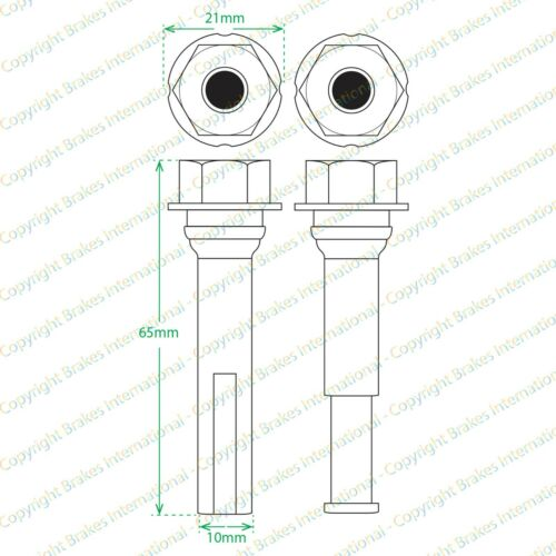 BCF1490AX2 NISSAN NV200 2x Front brake caliper Slider PIN Kits FITS 2010-2015