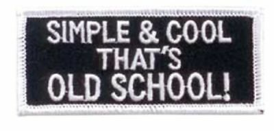 Smiling that ALONE EMBROIDERED IRON ON MC FUNNY BIKER PATCH