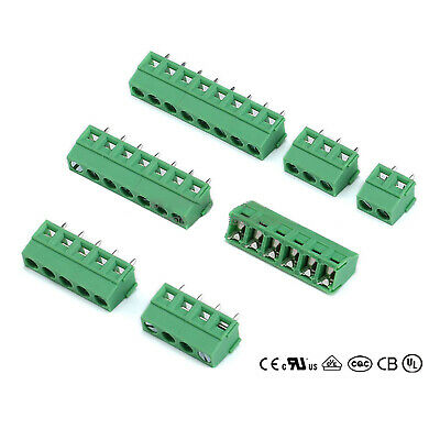 50pcs Plug-in Screw Terminal Block Connector 5mm Pitch PCB Mount 2Poles 2-Pin GD