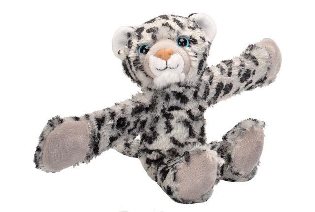 8 Inch Ck Huggers Snow Leopard Plush Stuffed Animal By Wild Republic