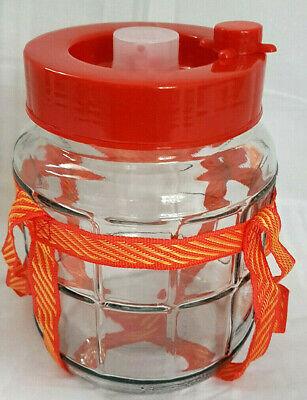 16 L Universelles Glas mit Gärsystem Gärbehälter Glasballon Gärballon Weinballon