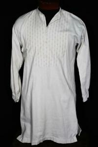 RARE-VINTAGE-1940-039-S-1950-039-S-GERMAN-COTTON-GRANDFATHER-SHIRT-SIZE-MED