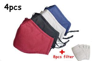 Masque de Protection en Tissu Lavable et Réutilisable + filtre charbon