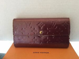 f78a9ea3b7172 Image is loading Louis-Vuitton-Sarah-Large-Wallet-Clutch-Vernis-TH1038-