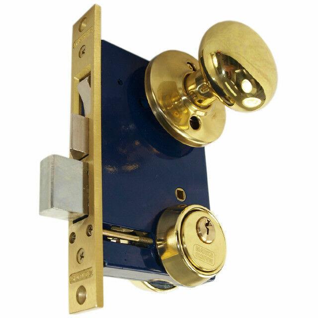 Marks 22AC Left Hand Reverse Double Cylinder Ornamental Knob Rose Mortise Lock