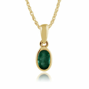 Gemondo-9ct-Yellow-Gold-Framed-0-25ct-Emerald-Oval-Pendant-on-Chain