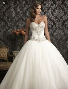 Allure Wedding Princess Dress Style Number 9017 Size 6 Veil