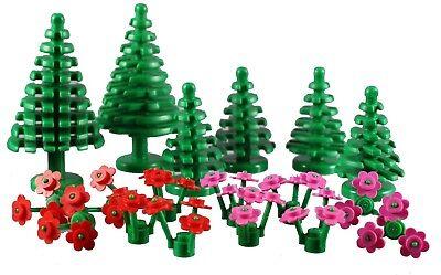NEW Lego 4 x Pflanze Blume braun NEU 24855 Plant Flower Reddish Brown