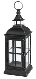 LLA1113 Ganz Antique Black Metal Lantern