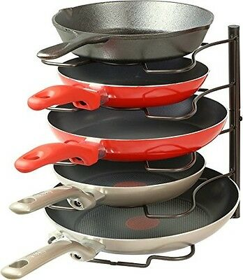 Kitchen Cabinet Pantry Pan Storage & Pot Lid Rack Organizer Cookware Holders NEW