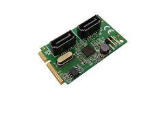 Carte MiniPCIe - SATA 3.0 - 2 PORTS - Mini PCI Express - FULL SIZE