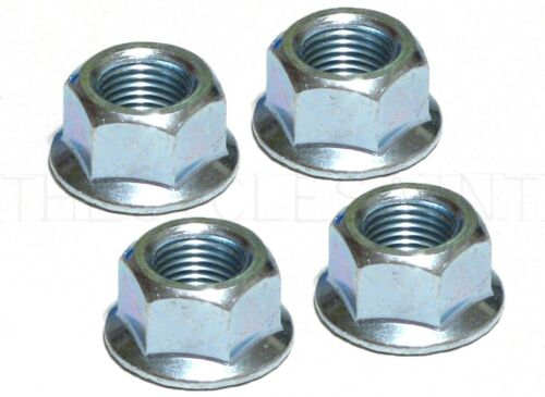 "x 24tpi Flanged Bicycle Axle Nuts Set of 4 Wheels Manufacturing 3//8/"" 9.5mm"