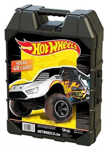 Hot Wheels Molded Carry 48 Car Case Efficient Storage Matchbox DieCast Rugged