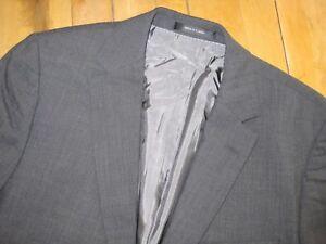 3c4af7ff5 Hugo Boss Solid Dark Gray Pasolini 100% Wool Suit 39 40 Dual Vents ...