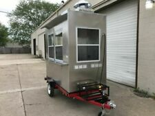 New 2021 Larger Concession Food Trailer Custom Hot Dog Cart Coffee Cart 5x8