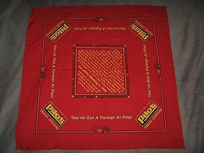 Pilot Travel Centers Gas Station Convenience Store 1991 Red Bandana Handkerchief