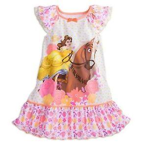 433beb91c9 Image is loading NWT-Disney-Store-Belle-Horse-Nightgown-Nightshirt-Sleepwear -