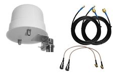 Omni Directional 4G 3G LTE MIMO External Antenna ZTE MF823 Boat Motorhome TS9