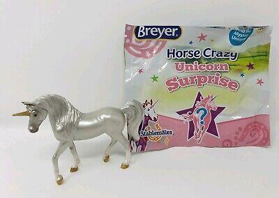 Breyer 6217 Stablemates Unicorn Mystery Surprise Free Breyer Pen Pencil Badge