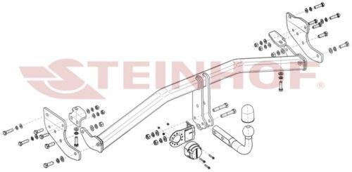 Für Kia Niro DE Hybrid Anhängerkupplung starr+ES 7p ABE