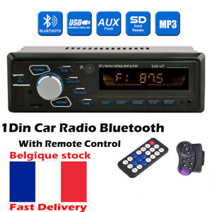 Radio-Voiture-Autoradio-1DIN-Bluetooth-lecteur-mp3-Stereo-Head-Unit-FM-USB-AUX