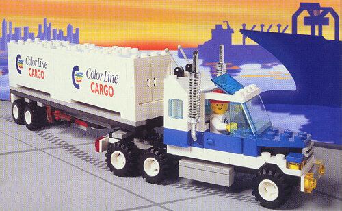 LEGO Town Classic 2149 Farbe Line Container Lorry New Sealed HTF