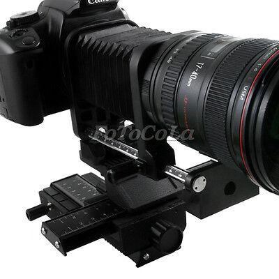 Lens Fold Bellows and 4-way Macro Focusing Slide Rail For Canon DSLR SLR Camera