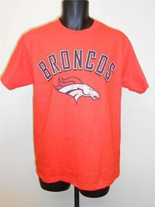 Nuevo-Denver-Broncos-Hombres-Talla-L-Grande-Naranja-Camisa