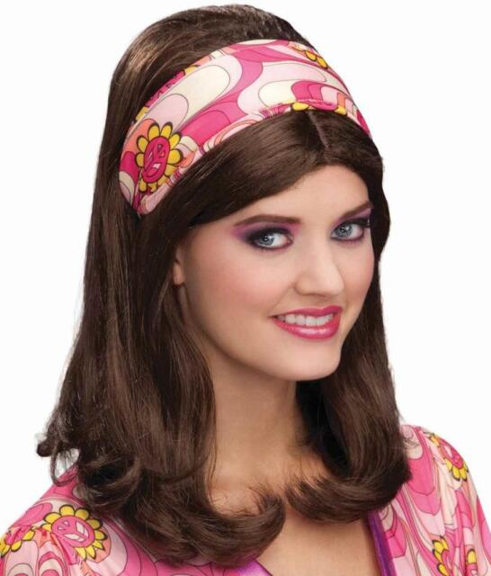 671015bc01c Flower Power Headband 60 s Mod Hippie Fancy Dress Halloween Costume  Accessory