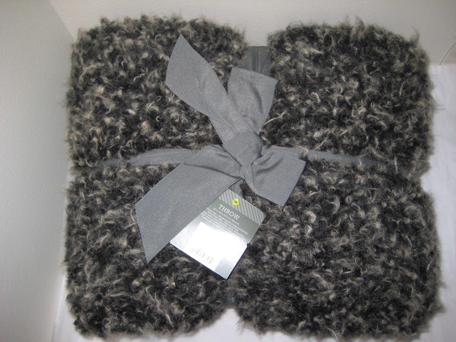 NEW Threshold Faux Fur Throw Blanket - Size  50 x60