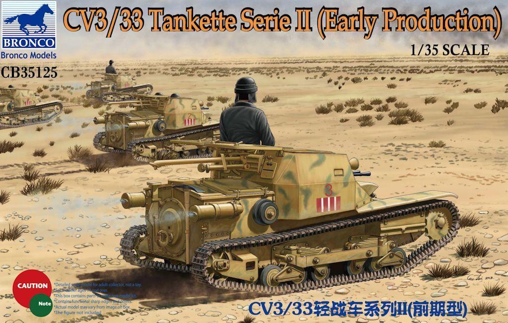 Bronco Models 1 35 CV3 33 Tankette Serie II (Early Production) Plastic