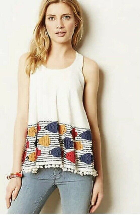 6. Anthropologie Deep-Sea Tank  by Let Me Be New  Sz. L