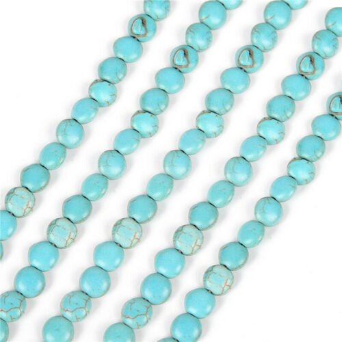 15/'/' Nature Blue Turquoise Gemstone Stone Beads Loose Spacer Charm Findings Yc