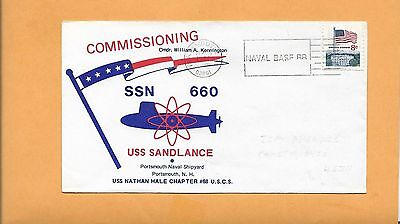 Commissioning U.s.s.sandlance Ssn 660 September 25,1971 Portsmouth Usa Briefmarken