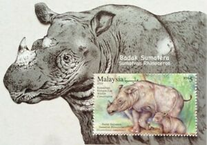 Malaysia-Miniature-Sheet-28-07-2019-Wildlife-Conservation-Sumatran-Rhinoceros