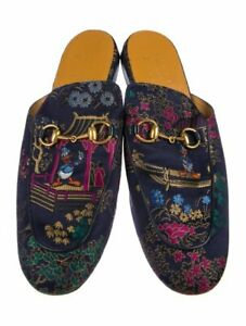 2e68633ff Image is loading Auth-Men-GUCCI-Princetown-DISNEY-SLIPPERS-Blue-JACQUARD-