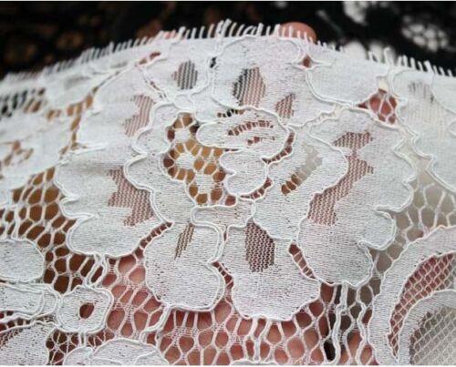 3 mètres largeur 15 cm Cils Floral Bordure en Dentelle À faire soi-même Robe Vêtements Tissu En Dentelle