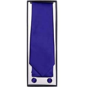 AnpassungsfäHig Royal Blue Satin Classic Men's Tie Hanky And Cuff Link Box Set Wedding Tie Prom