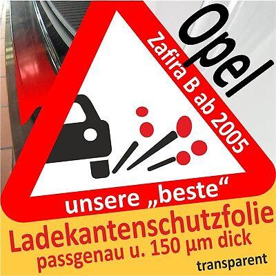 passgenau f/ür Opel Karl; Lackschutzfolie Ladekantenschutz transparent