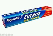 Reynolds® Cut-Rite Wax Paper Die Cut Easy Release (75 Sq Foot) Free P & P!