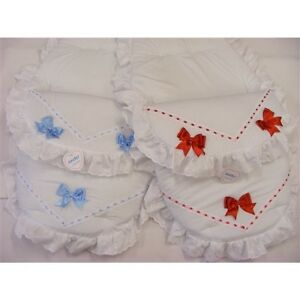 Kinder Baby Cosy Toes Footmuff Romany Spanish Style Satin Slotted ...