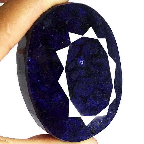 1690 CT (CERTIFIED) EARTH MINED 100% NATURAL BLUE SAPPHIRE OVAL FACETED GEMSTONE